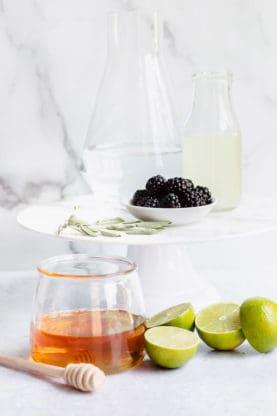 Honey Refresher 5 277x416 - Honey, Blackberry and Sage Refresher Mocktail