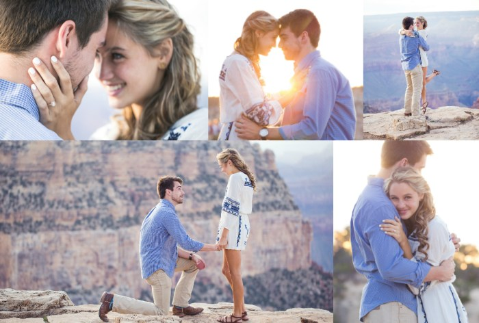 Grand Canyon National Park Wedding Proposal Sunset Picnic