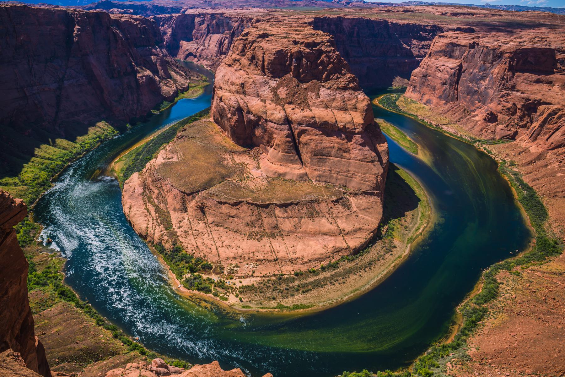 view of the Colorado River at Horseshoe Bend