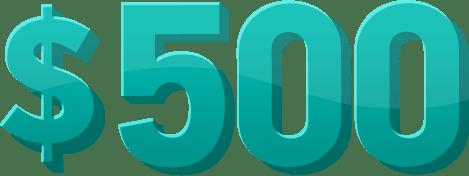 500 bonus