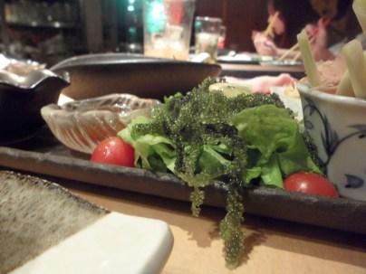 Du raisons de mer. Oui, ce sont des algues. Et c'est délicieux !