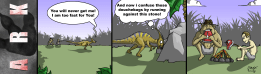 Why do fleeing dinos run against rocks? Its all about tactics… ^^