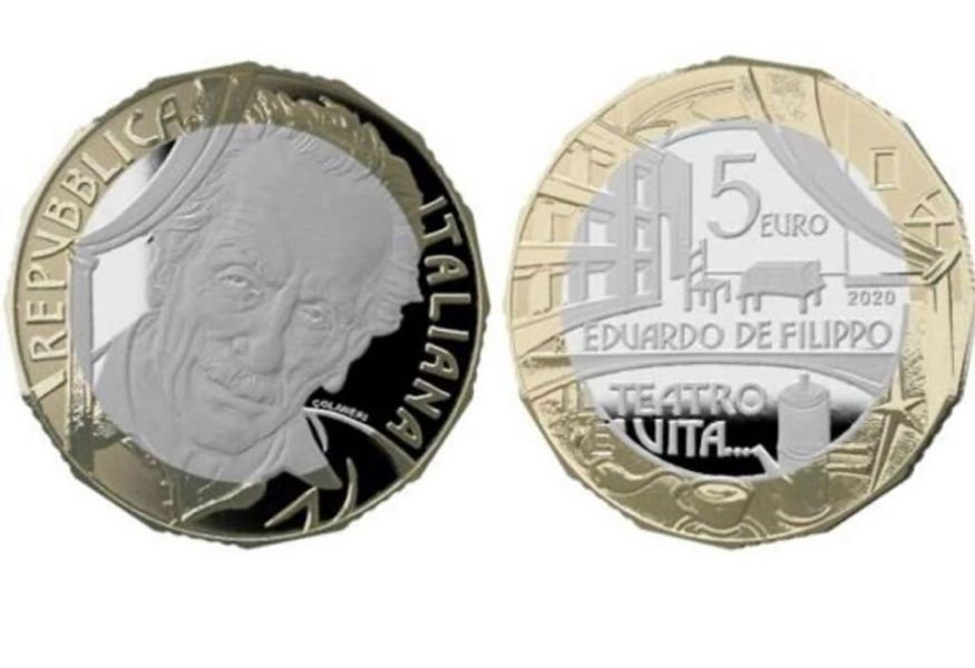 Una moneta da 5 euro per celebrare l'arte di Eduardo De Filippo