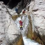 Toboggans dans le canyon de Trou Blanc