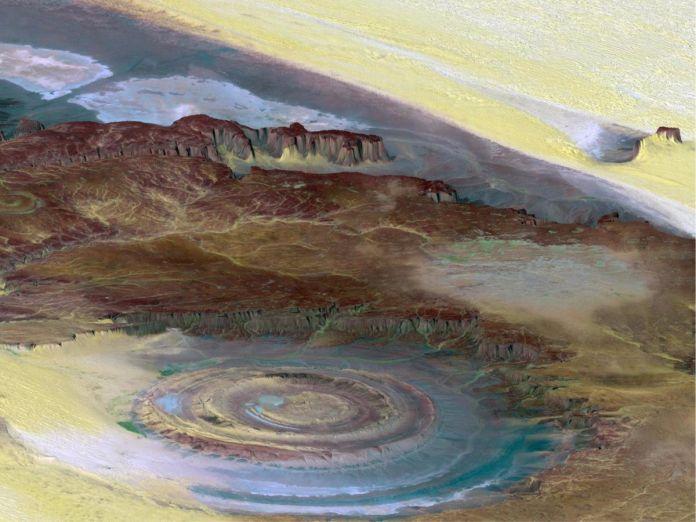 Estructura de Richat - 29 de los paisajes más surrealistas de nuestro hermoso planeta