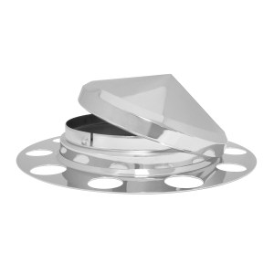 Chrome Plated Cone Type Hub Cap 3 Piece Front Axle Set for Steel Wheel