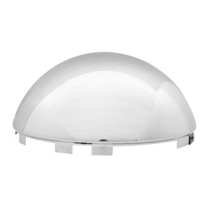 """Chrome Plated ⁷∕₁₆"""" Full Moon Universal Front Hub Cap - Side View"""