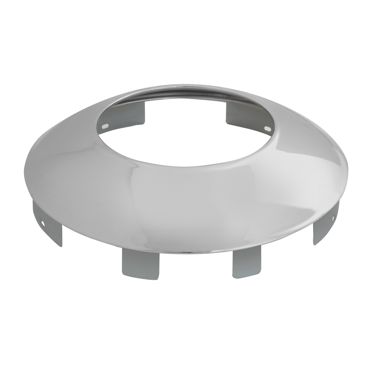 """Chrome Plated 1"""" Universal Front Notched Hubdometer Cap"""
