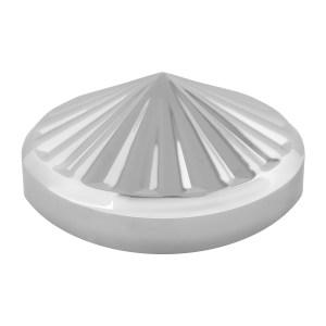 "Chrome Plated 8"" Pinwheel Rear Hub Cap"