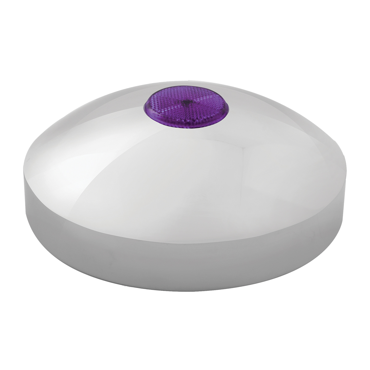 "Rear Hub Cap with 2"" Top Mounted Purple Reflector"