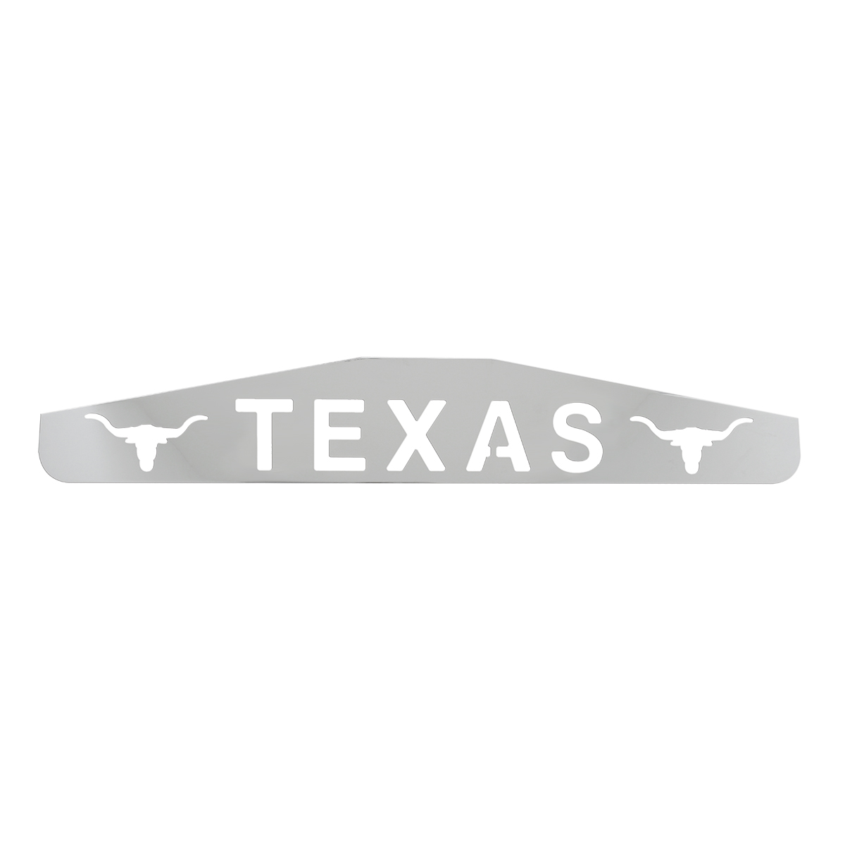 "Bottom Maud Flap Plate with ""Texas with Longhorns"" Script"