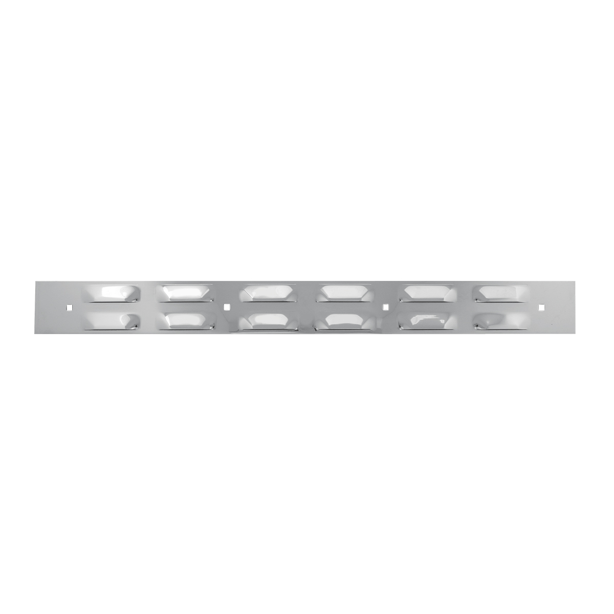 Top Mud Flap Louver Style Plate with 4 Holes