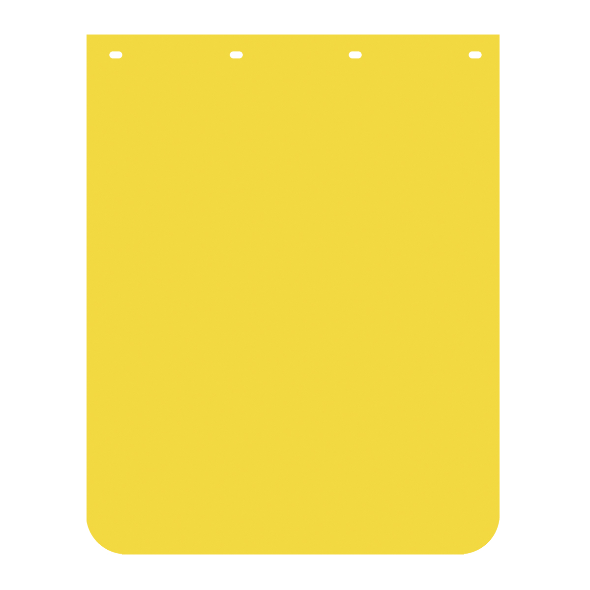 Yellow Plain Poly Mud Flap