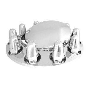 Chrome ABS Plastic Standard Hub Cap with Push On Nut Covers