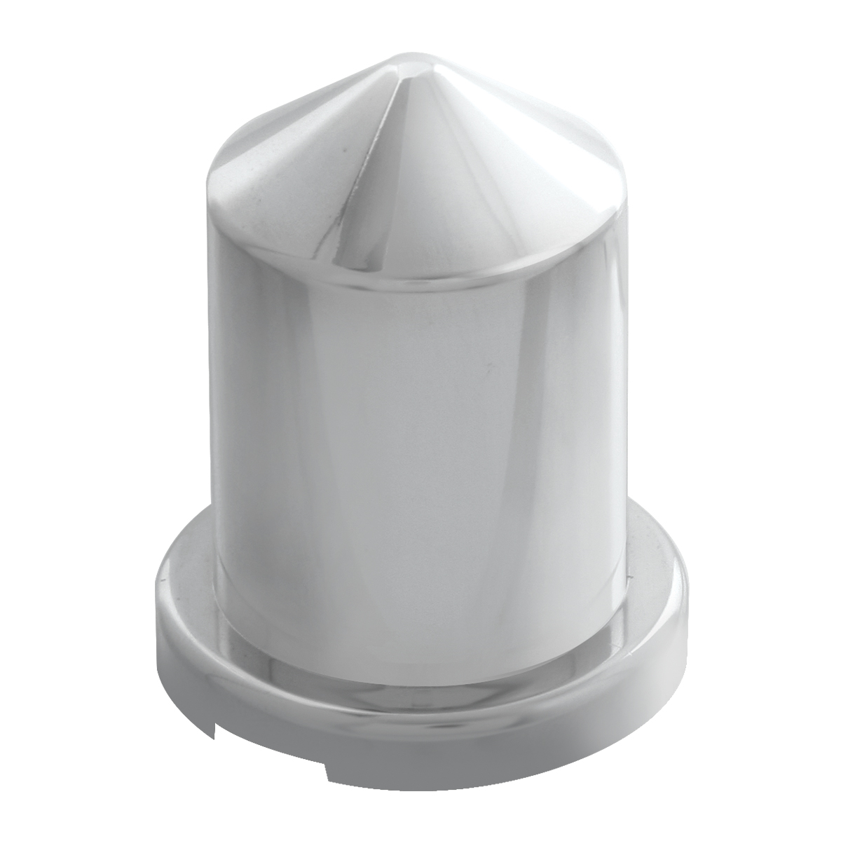 "Chrome Plastic ¹³∕₁₆"" Push-On Multi-Size Round Pointed Lug Nut Cover"