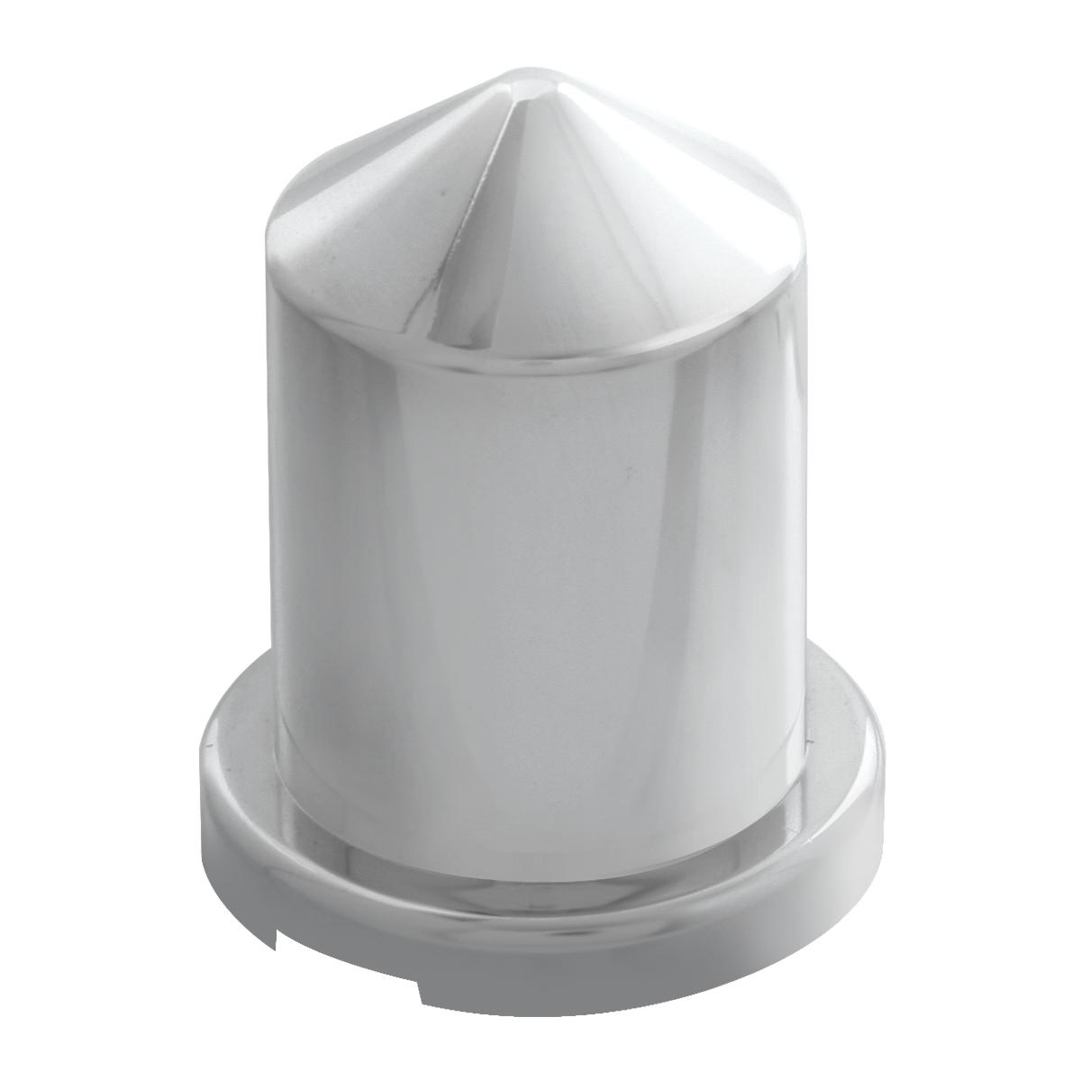 "Chrome Plastic ¹³∕₁₆"" Push-On Multi-Size Round Pointed Lug Nut Cover"