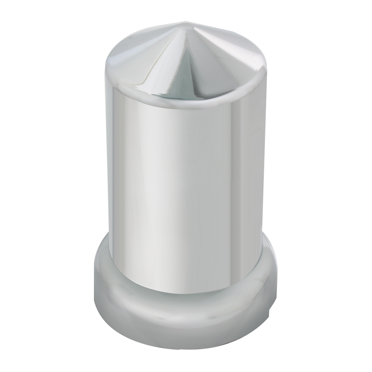 Chrome Plastic 33 mm Push-On Multi-Size Round Pointed Lug Nut Cover