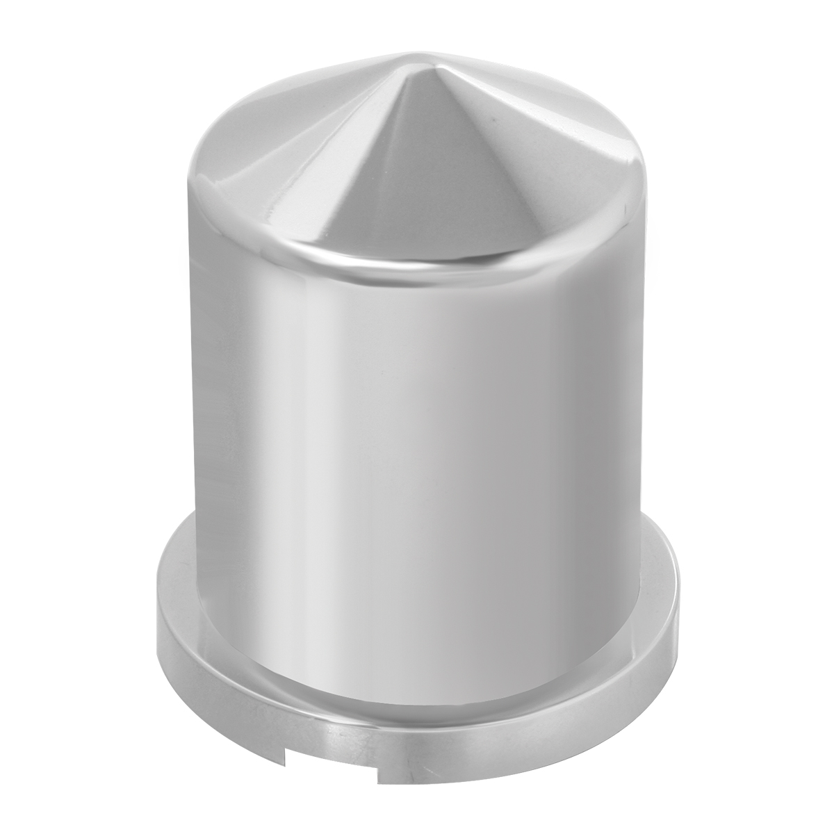 """Chrome Plastic ⅜"""" & 10 mm Push-On Multi-Size Round Pointed Lug Nut Cover"""