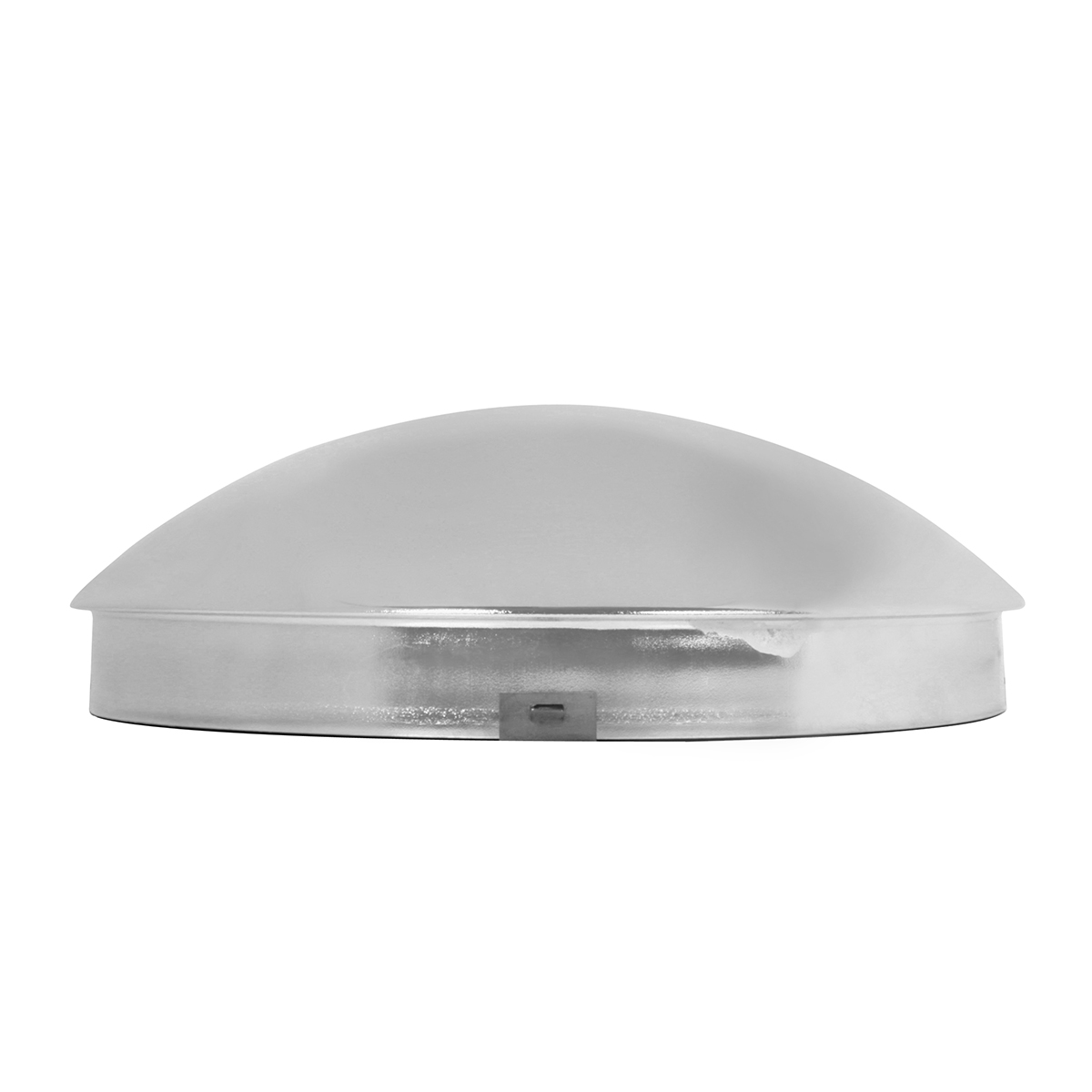 "Chrome Plated 1"" Standard Front Hub Cap with 4 Notches"
