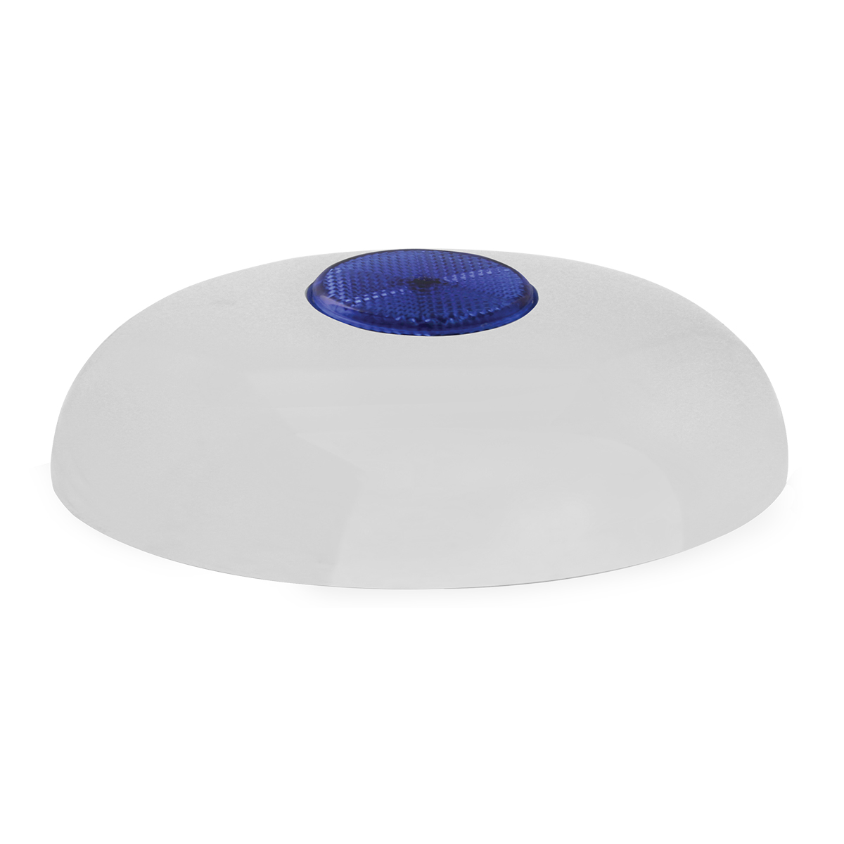 """Chrome Plated Steel Horn Cover with Blue Reflector on Center – 5 ½""""- 6"""""""