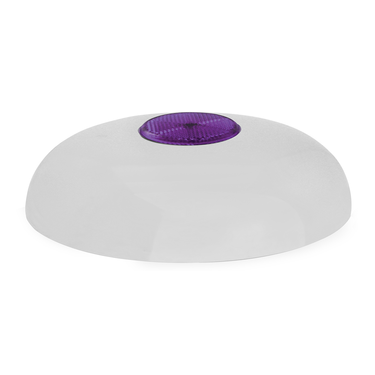 Chrome Plated Steel Horn Cover with Purple Reflector on Center