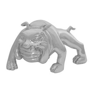 Chrome Die Cast Bull Dog Hood Ornament