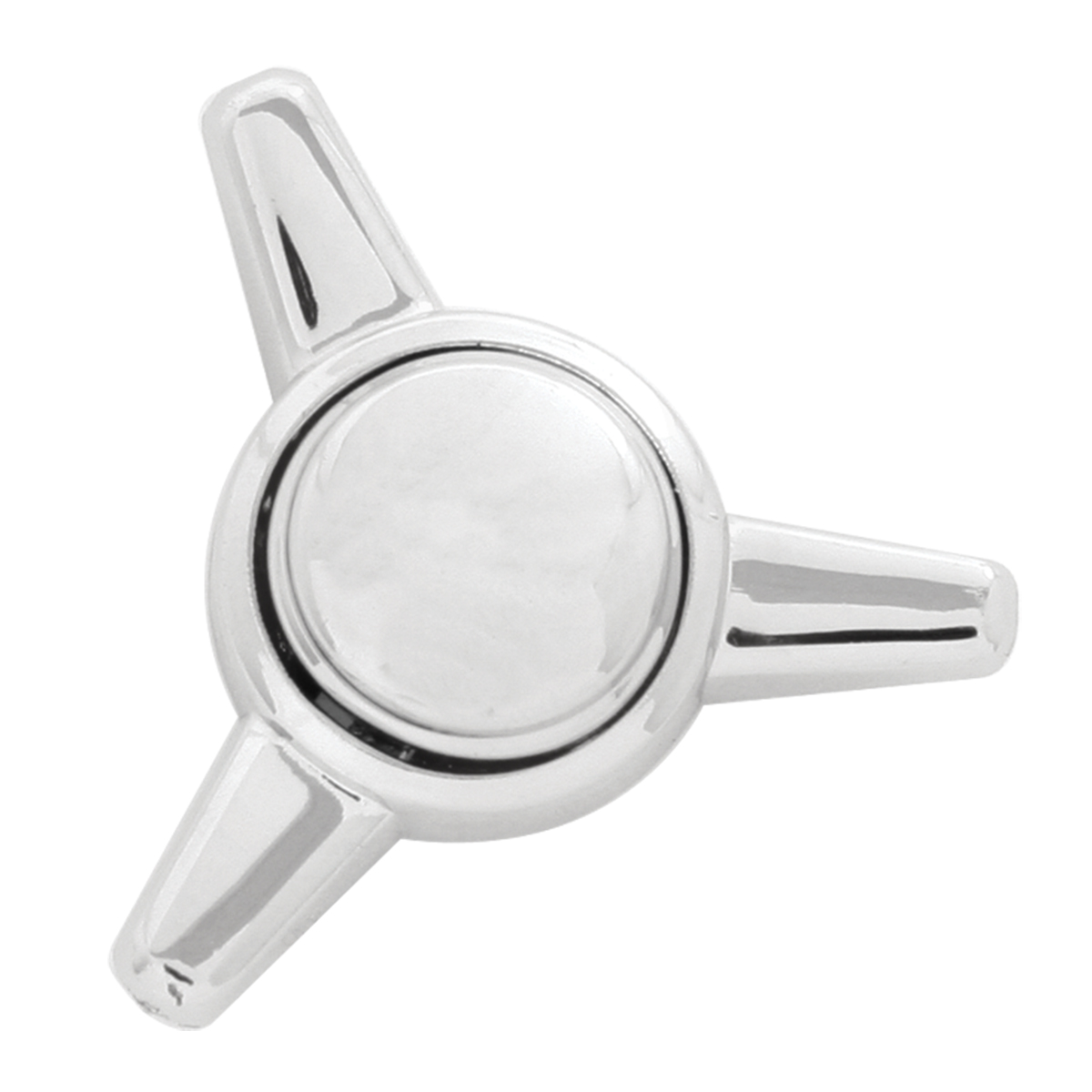 Chrome Plated Screw Head Covers in Spinner Snap-On Style
