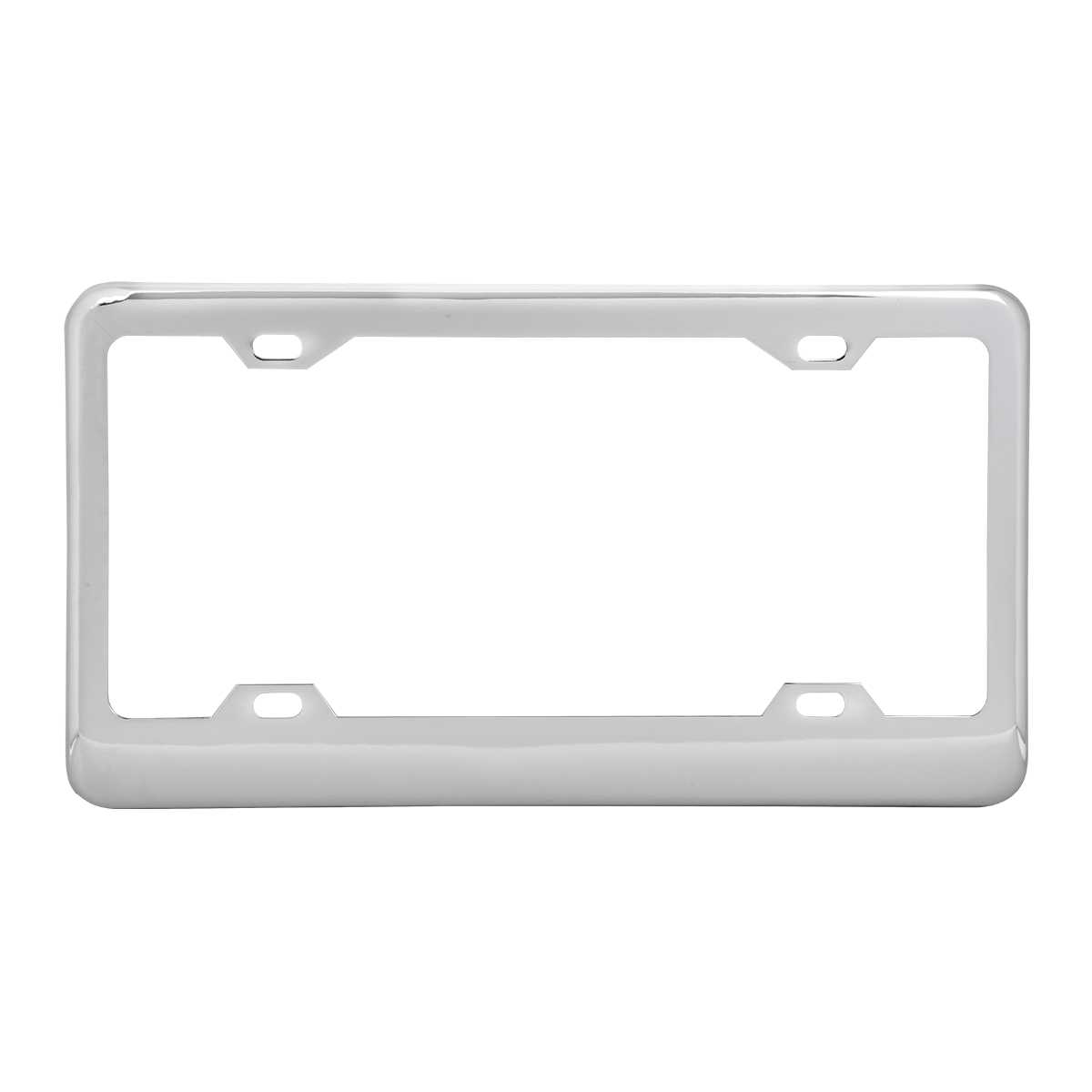 60050 Classic Chrome Plastic Steel 4-Hole License Plate Frames
