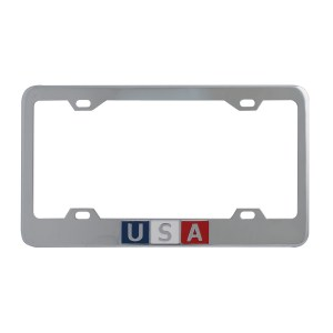 USA Scripted license Plate Frame with 4 Holes