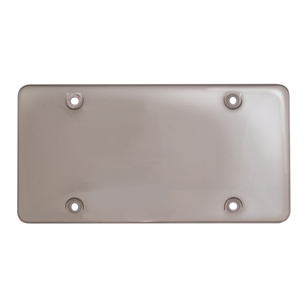 Bubble License Plate Protector - Smoke