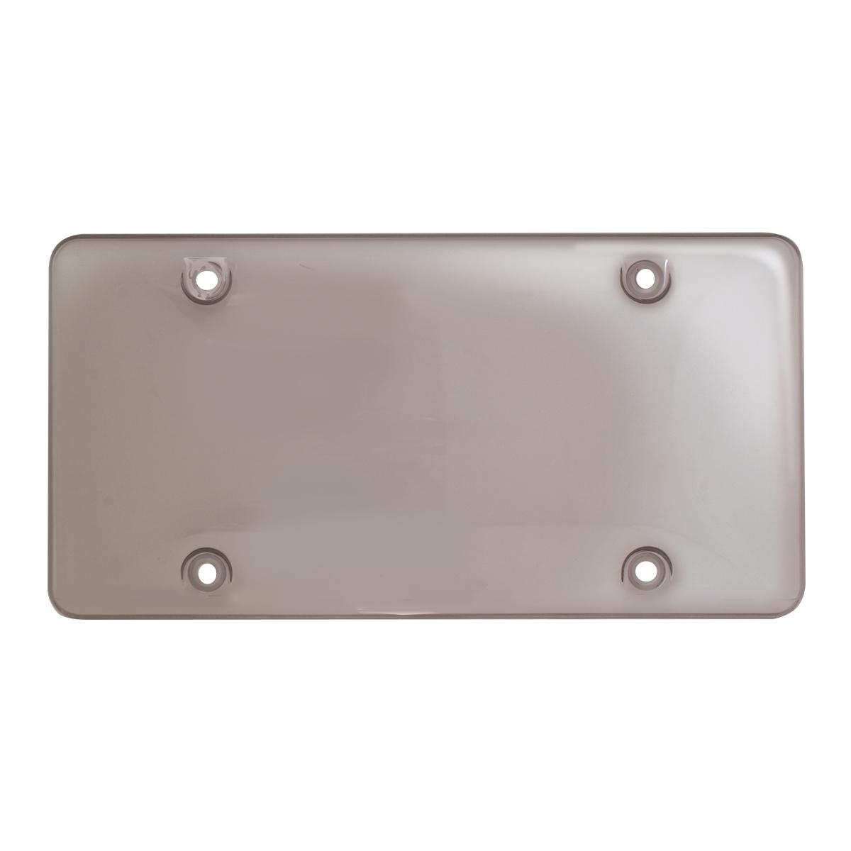 Bubble License Plate Protector - Smoke