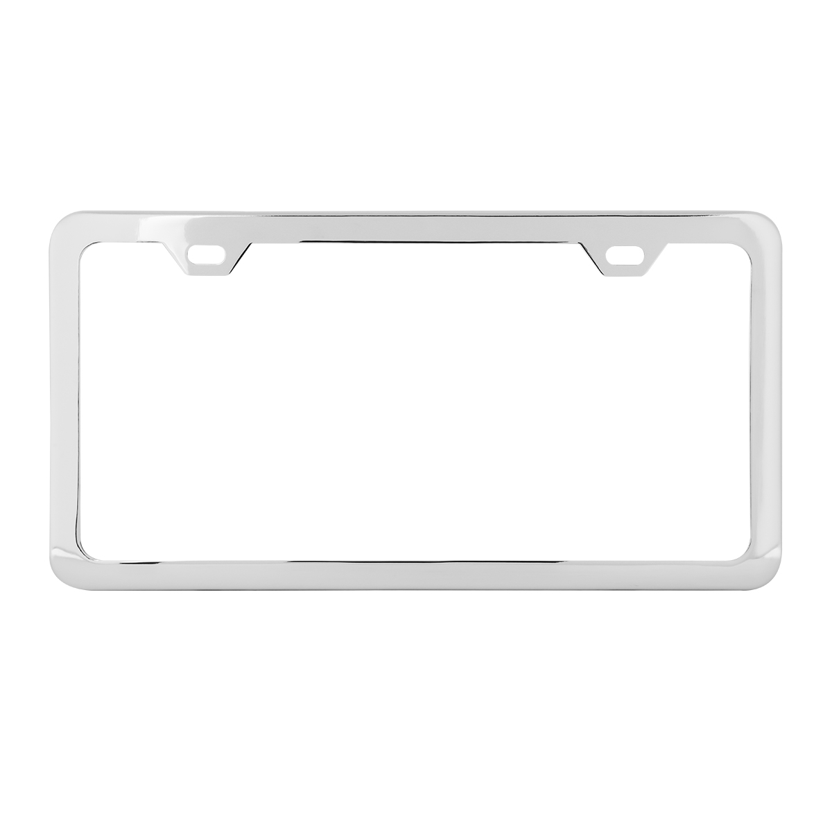 60400 Plain Chrome Plated 2 Hole License Plate Frame