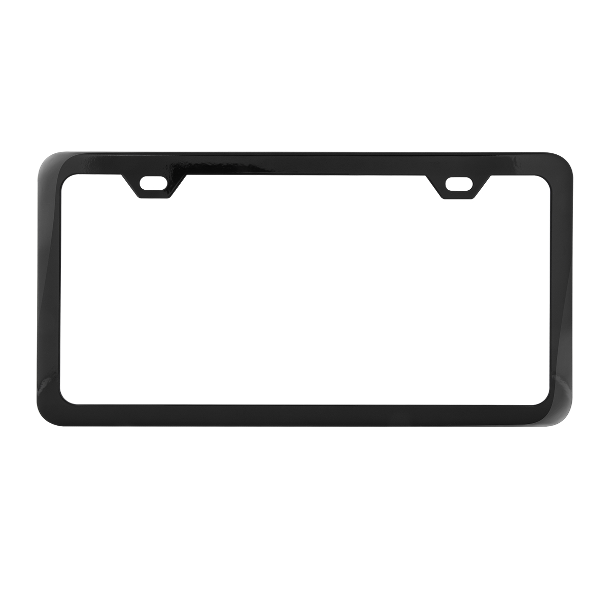 60403 Plain Semi-Gloss Black 2 Hole License Plate Frame