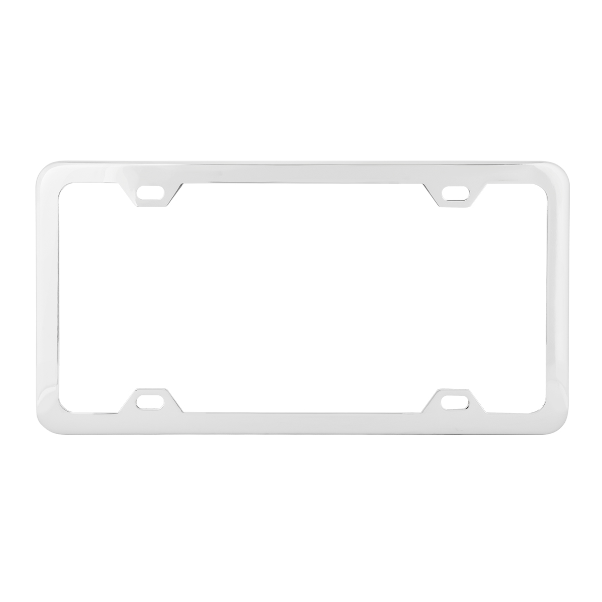 60412 Plain Chrome Plated 4 Hole License Plate Frame