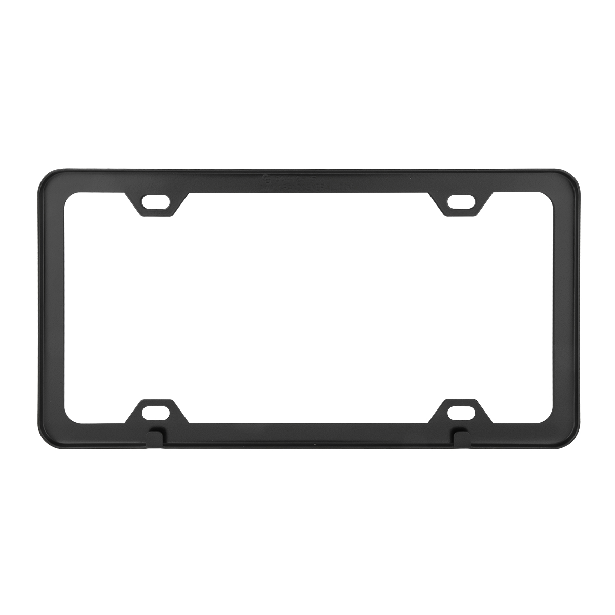 60414 Plain Matte Black 4 Hole License Plate Frame - Back View