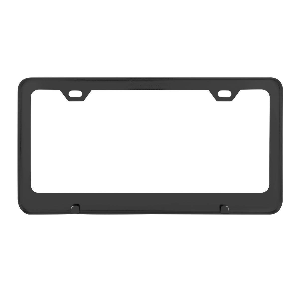 60439 Flat/Matte Plain Black 2 Hole License Plate Frame - Black View