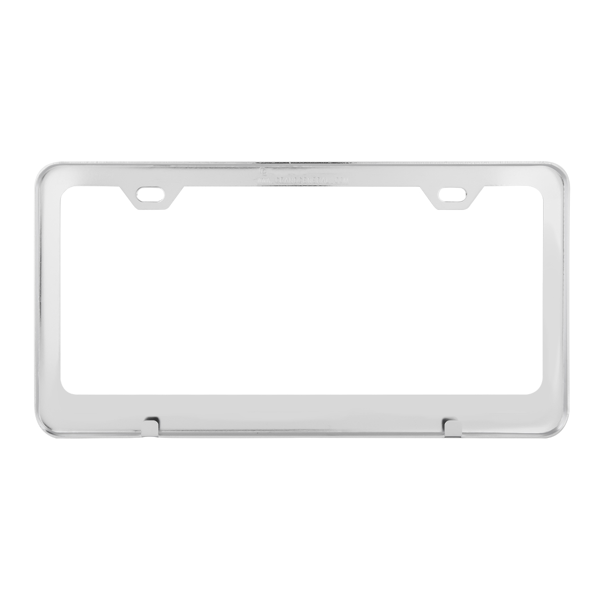 60440 Plain Chrome Plated Steel 2 Hole License Plate Frame - Back View
