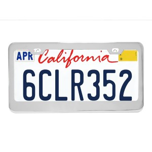 Plain 2-Hole License Plate Frames with Thick Bottom