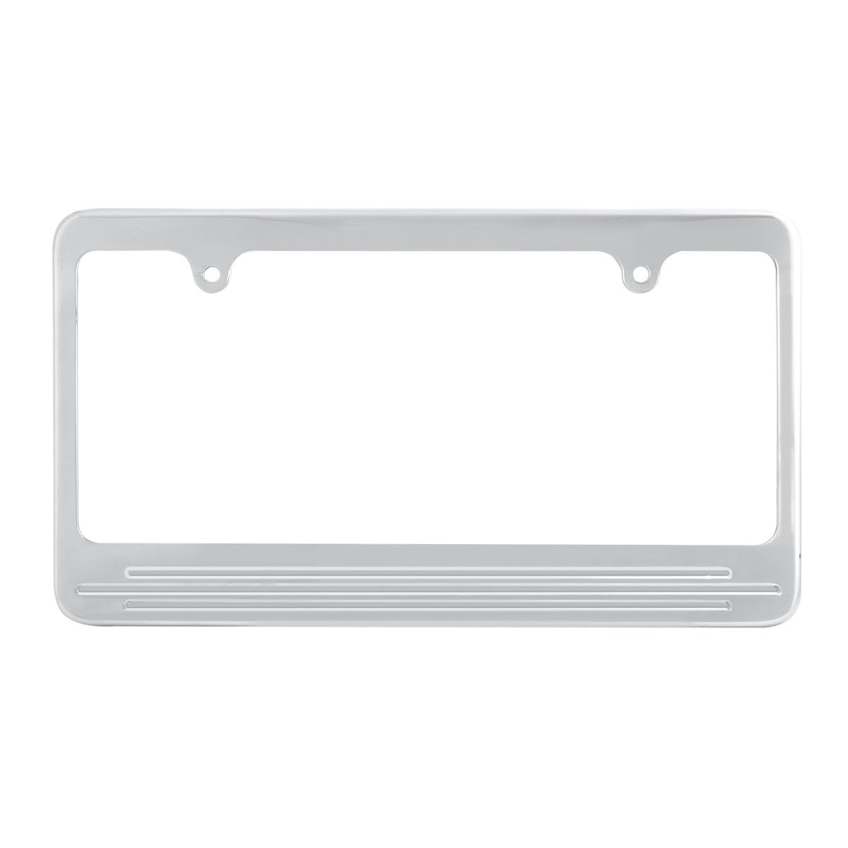 60473 Aluminum License Plate Frame with 2 Holes