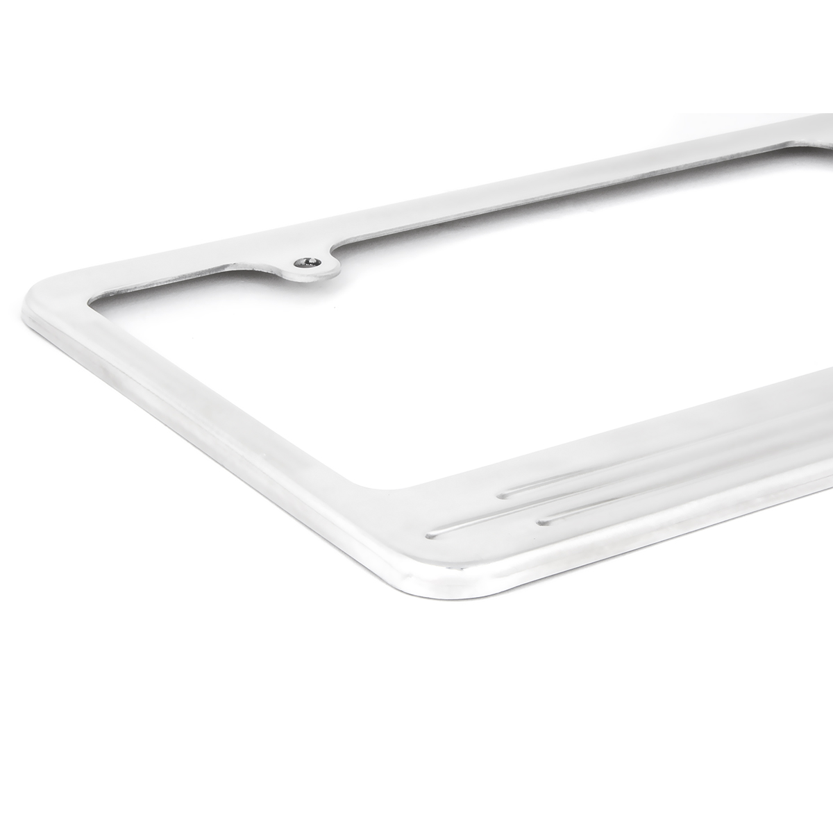 60473 Aluminum License Plate Frame with 2 Holes - Close Up View
