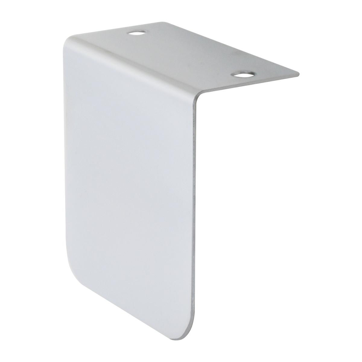 """Chrome Plated Steel Permit Sticker Holder """"L"""" Bracket"""