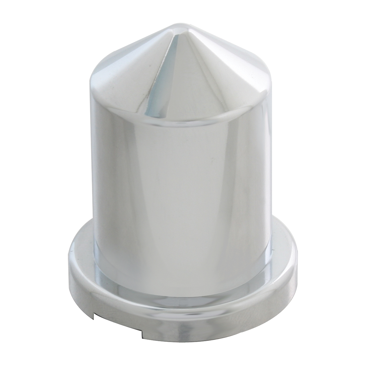 """Chrome Plastic ¾"""" & 18 mm Push-On Multi-Size Round Pointed Lug Nut Cover"""