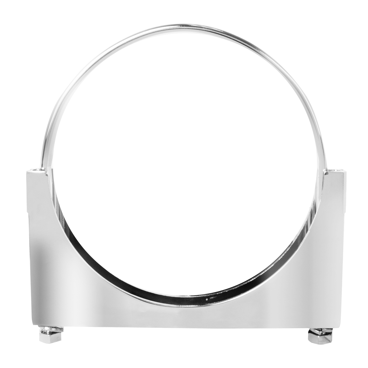 "#70490 Chrome Plated Steel 6"" Heavy Duty Exhaust Clamp Bracket"