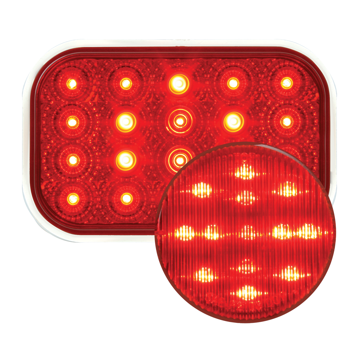 #77013/#76662 Spyder LED Red/Red - Flat