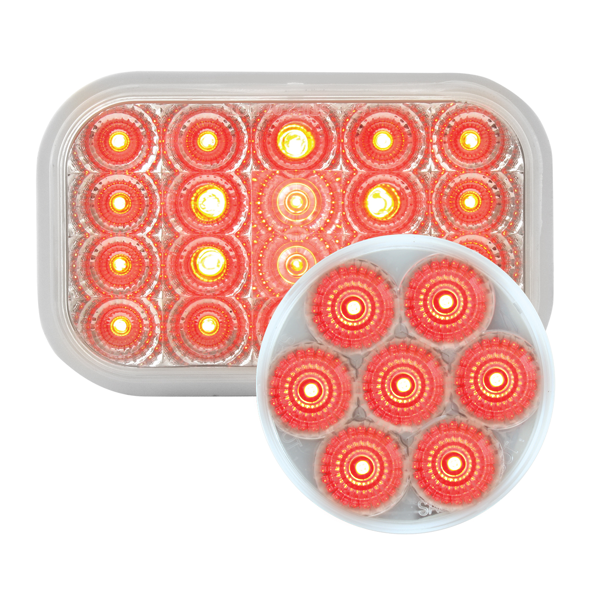 #77014/#76663 Spyder LED Flat - Red/Clear