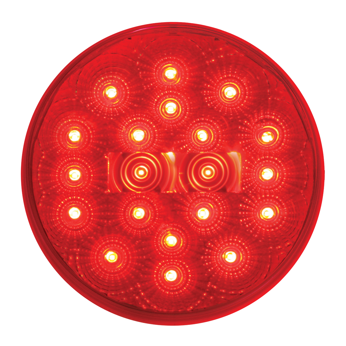 "#77093 - 4"" Round Spyder LED Flat Red/Red Light"