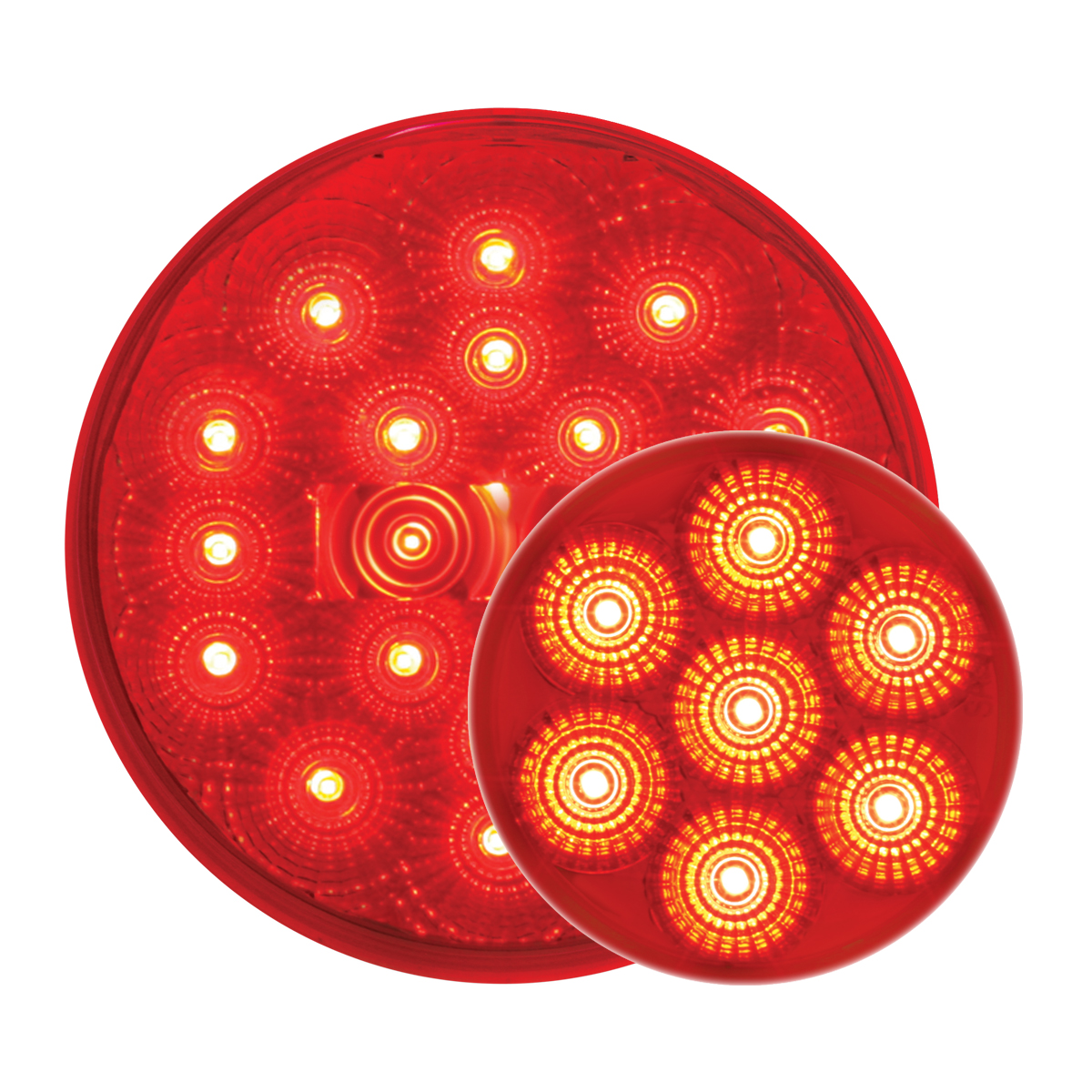 #77093/#76662 Spyder LED Red/Red - Flat