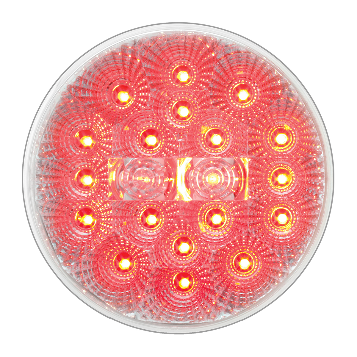 "#77094 - 4"" Round Spyder LED Flat Red/Clear Light"