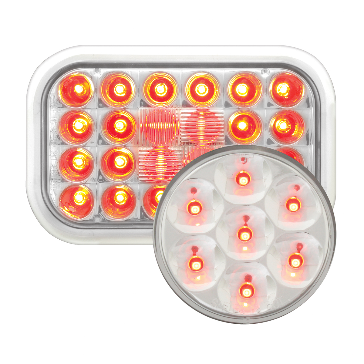 #77183/#76543 Pearl LED Flat Light - Red/Clear