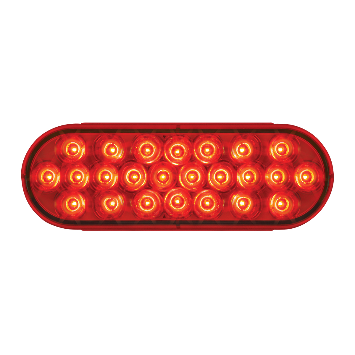 #78233 - Oval Sealed Pearl LED Flat Red/Red Lights
